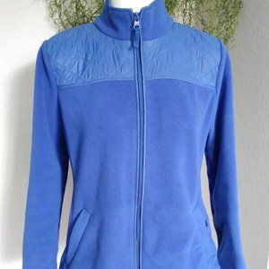 Royal Blue Sherpa Zip-up Jacket by Talbots